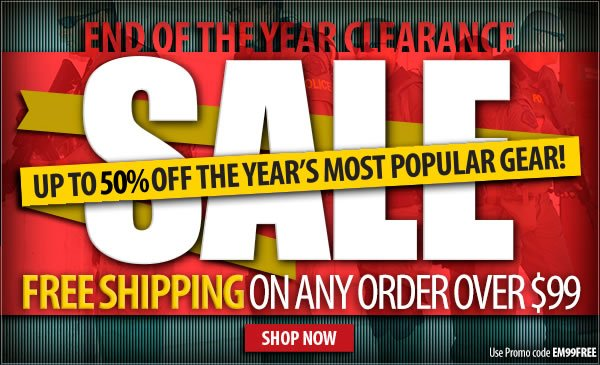 End of the Year Clearance + Free Shipping Over 99 dollars