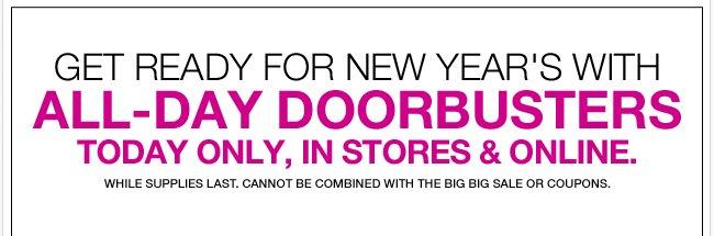 All Day Doorbusters In Stores & Online!