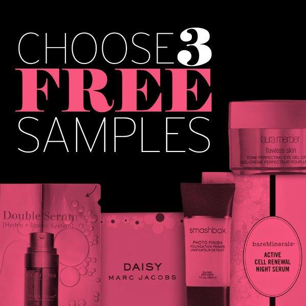 CHOOSE 3 FREE SAMPLES