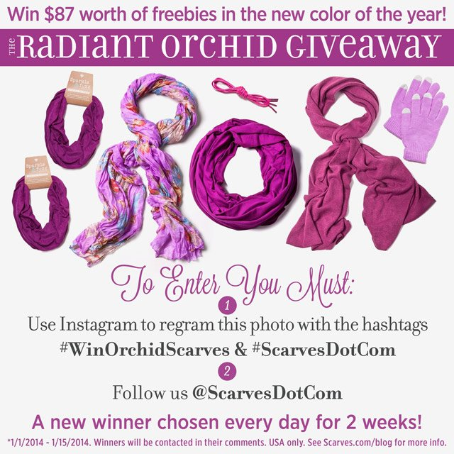 Radiant Orchid Giveaway