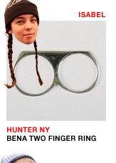 Hunter NY Bena Double Finger Ring