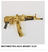 Mathmatiks AK74 Black/Gold Money Clip