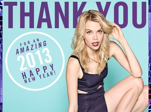 Thank You for an AMAZING 2013!
