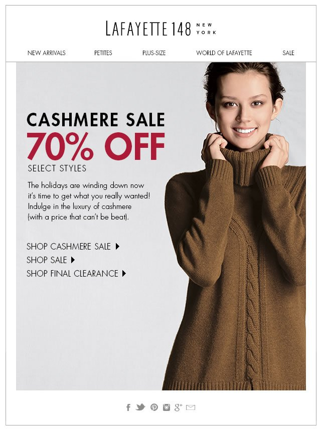 Cashmere Sale (Get What You Really Wanted!)