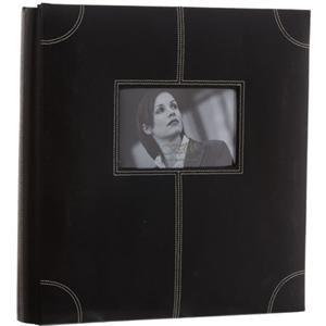 Adorama - Fetco Home Decor Parkin Series, Black Faux Leather Bound Album