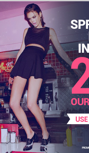 Spring in to the New Year in style with 20% OFF our entire website! Use code NY2014 at checkout.