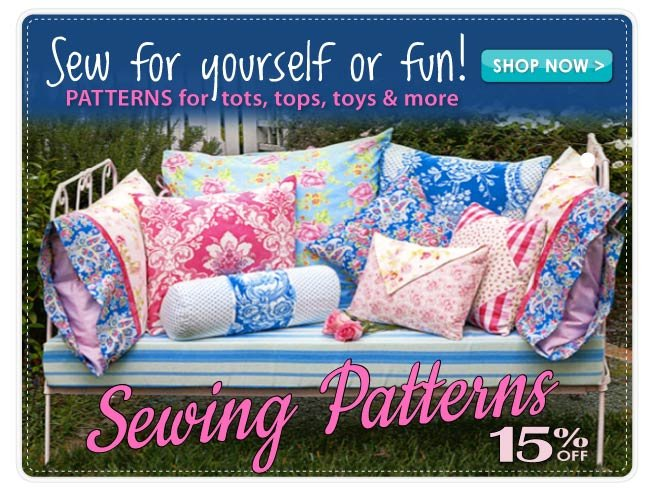 15% Off All Sewing Patterns