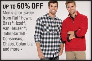 Up to 60% off men's sportswear.