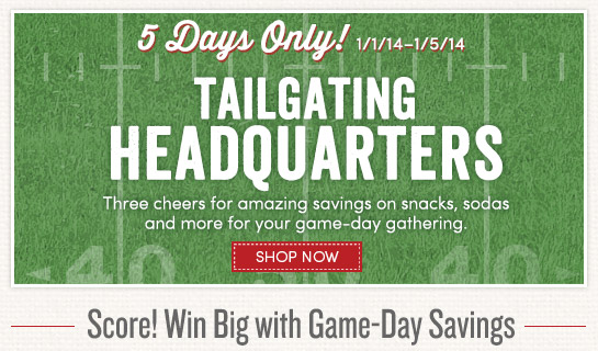 5 Days Only! Three cheers for amazing savings for your game-day gathering