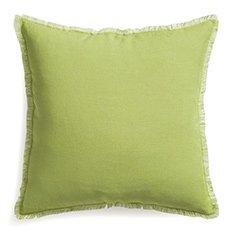Eyelash Green and White 20in Pillow