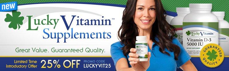 Lucky Vitamin Brand Supplements