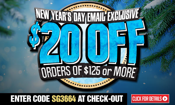 Sportsman's Guide's $20 Off with Your Merchandise Order of $125 or more! Enter Coupon Code SG3664 at checkout. Offer Ends Tonight, 1/1/2014.