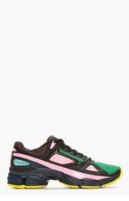 RAF SIMONS Green Mesh Adidas Edition Ozweego Sneakers for men