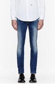 DSQUARED2 Blue faded & paint-splattered cool guy jeans for men