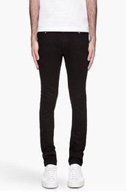 CHRISTOPHER KANE Washed black slim minimalist jeans for men