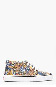 KENZO Orange Flying Tiger Print Vans Edition Chukka Sneakers for men