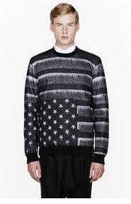 GIVENCHY Grey American Flag printed sweatshirt for men
