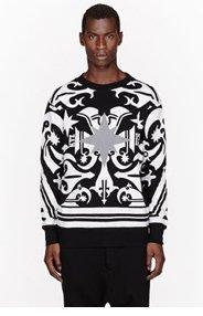 KTZ White & Reflective tattoo print sweatshirt for men