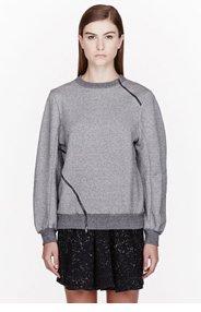 DAMIR DOMA Grey Heavy Jersey Sweater Tuca Mandolin Sweatshirt for women