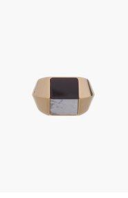 SAINT LAURENT Black & White Opium Ring for women