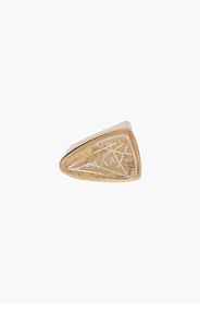 CHLOE Gold and Resin triangle Bettina ring for women