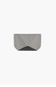 TOM BINNS Silver Touch Chic Pyramid stud Ring for women