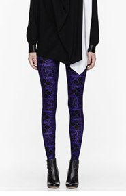 ALEXANDER MCQUEEN Royal purple Stained Glass Leggings for women