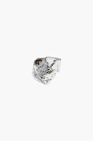 MARC BY MARC JACOBS Hammered silver twist ring for women