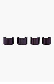 MAISON MARTIN MARGIELA Dark purple Knuckleduster Ring Set for women