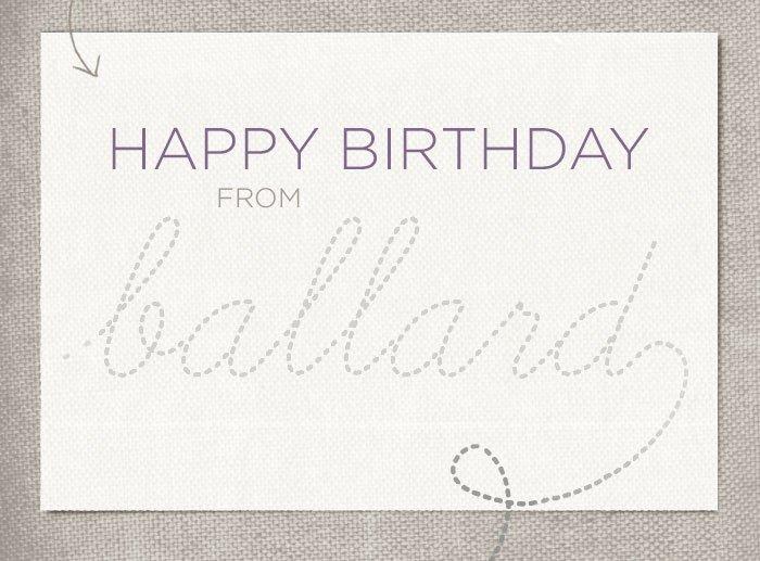 Happy Birthday from Ballard