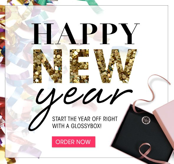 Happy New Year! Start the year off right with a GLOSSYBOX!