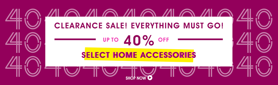 Clearance Sale! 50% Off Select Home Accessories