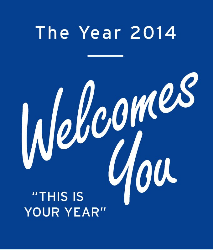 the year 2014 welcomes you.