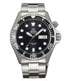 Orient EM65008B Men's Ray Stainless Steel Black Dial Automatic Dive Watch
