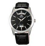Orient EV0S004B Men's Union Black Dial Leather Strap Automatic Watch