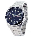 Orient EM65009D Men's Ray Stainless Steel Blue Dial Automatic Dive Watch