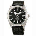 Orient FFD0F002B Men's Vintage Black Dial Power Reserve Leather Strap Automatic Watch