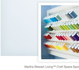 Martha Stewart Living™ Craft Space Spool and Bobbin Storage  |  Martha Stewart Living™ Craft Space Gift-Wrap Hutch
