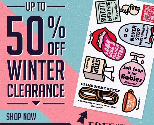 UP to 50% off Winter Clearance