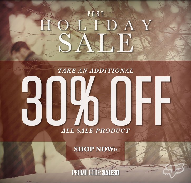 Post Holiday Sale   Additional 30% Off Sale Product