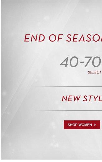 End Of Season Winter Sale - Shop Women