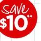 Save $10**