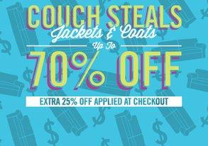 Shop Extra 25% Off: Coats & Jackets