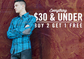 Shop Buy 2 Get 1 Free: $30 & Under