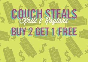 Shop Buy 2 Get 1 Free: Knits & Raglans