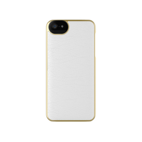 Leather Wrap Case for iPhone 5/5s // White + Gold