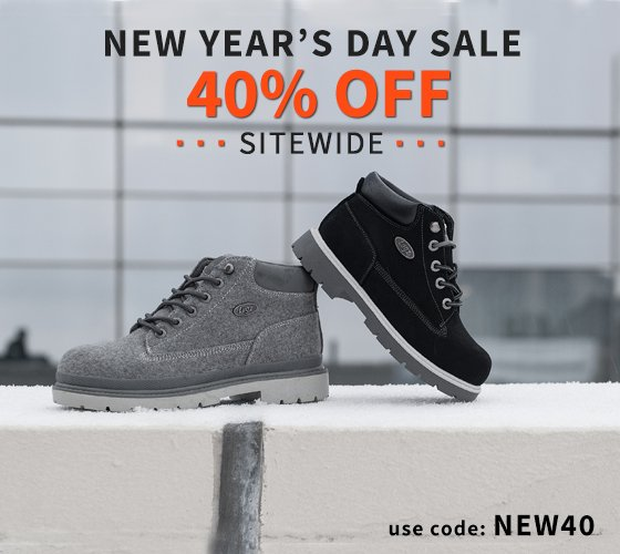Kick off the New Year Right With 40% Off