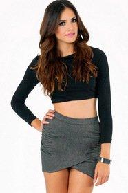 Pull It Together Mini Skirt