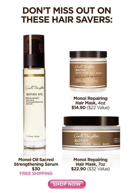 Hair Savers - Monoi Oil Sacred Stregthening Serum, Monoi Repairing Hair Mask, Monoi Repairing Hair Mask