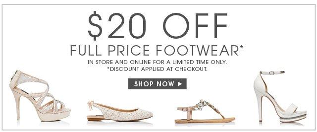 FULL PRICE FOOTWEAR OFFER